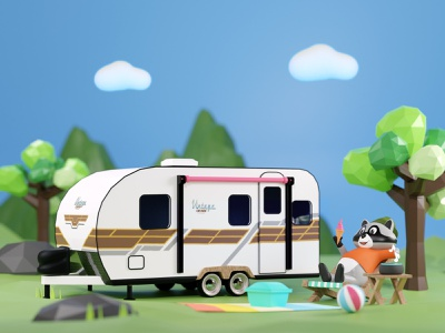 Chilling in Woods digital 3d art branding design brand design branding 3d character design 3d cinema4d 3d illustration blender3d 3d character 3dillustration webillustration illustration