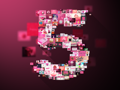 "5 years ""Thank you"" dribbble is 5 5 years celebration"