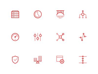 Finance Icons gap api security chart settings speed aggregator bridge piechart servers