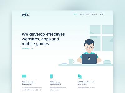 VSK Wesbite  homepage uiux website vsk