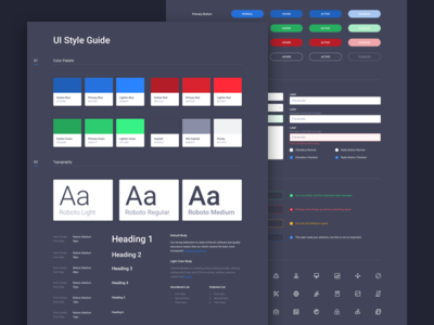 UI Style Guide sketch app dark alerts buttons form elements guide style guide styleguide ui