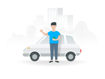 Sell your car illustration hero empty state illustration flat car sell