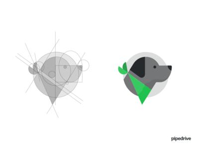 Pipedrive Stefy mascot pipedrive labrador dog