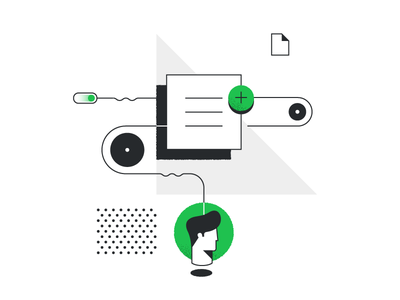 Fancy Flow for Pipedrive green illustration lines flow practice pipedrive