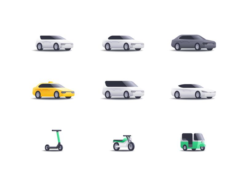 Bolt Category Vehicles vehicles rideshare illustration icon bolt app