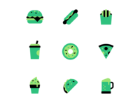 Rotten Junk Food Icons