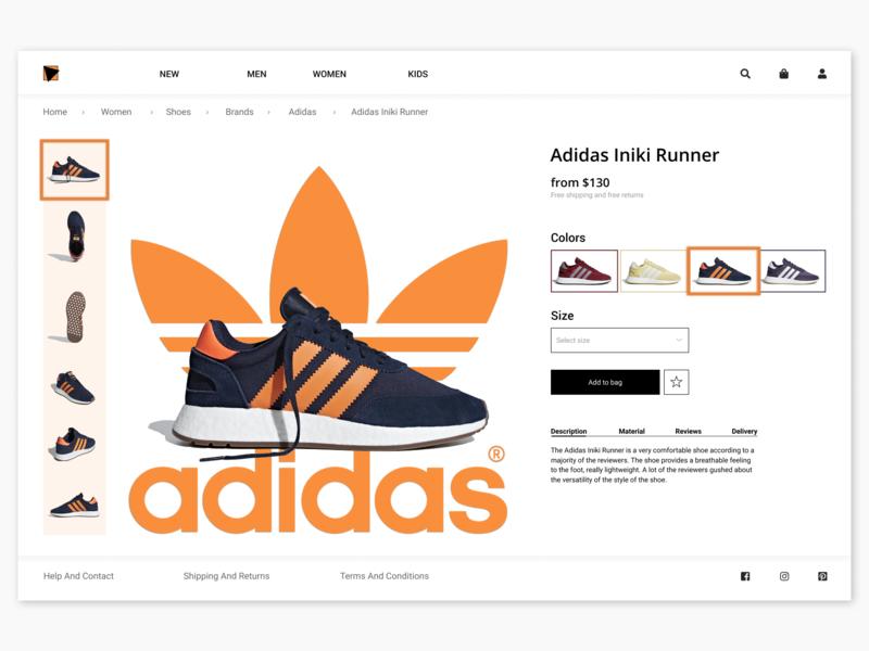 Online Shop, Product Card Concept mobile concept graphic product store art top online shop design ux adidas originals ui style online onepage branding landing page app web adidas