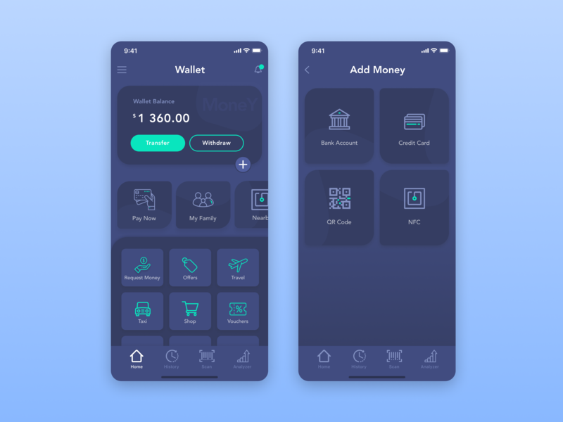 Wallet app exchange bank payment minimal interface banking sell iphone ios mobile buy money application finance bussines ui ux dashboard app wallet