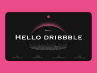 Finally, hello dribbble