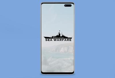 AR BATTLESHIPS : SEA WARFARE Logo Design
