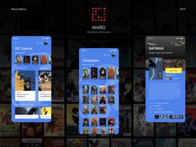 UI/UX Concept Design (WARD) Platform for digital comic books