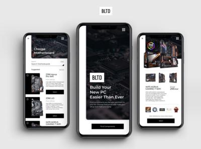 BLTD UI/UX Concept design for Choosing Computer Components