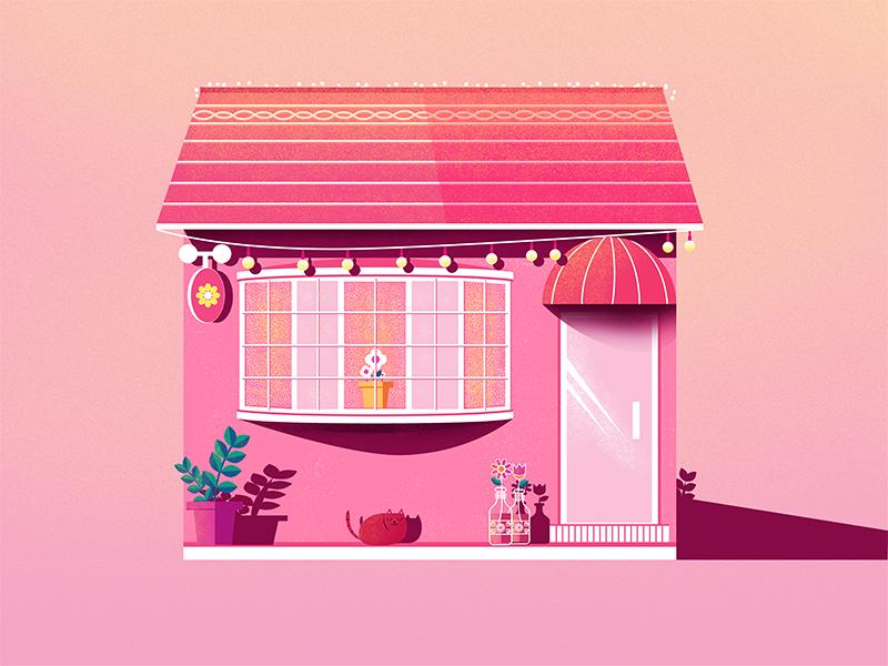 Color-Pink pink illustration