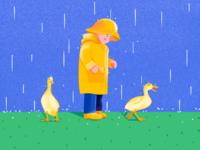 Children and Yellow Ducks