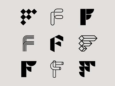 Letter F exploration f logo lettering lettermarkexploration 3d logo letter f letters lettermark logo lettermark letter exploration bold monogram geometric simple typography branding logo design logo minimal