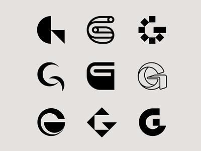 Letter G exploration lettermark logo type lettermarkexploration lettermark letter g g logo letters letter exploration bold logotype monogram geometric brand identity typography branding logo design logo minimal