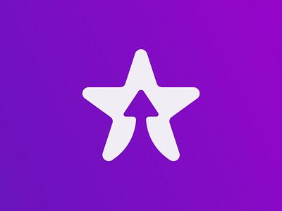 Flair logo concept promotion tech friendly app icon app negative space arrow star bold brand identity branding logo design minimal logo