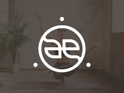 After Ego logo design eastern elegant circular ancient tribal balance yinyang wellness meditation yoga ae ambigram logotype monogram brand identity branding logo design minimal logo