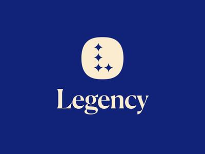 Legency logo design agency luxury letter l l logo stars elegant logomark lettermark monogram geometric brand identity branding logo design logo minimal
