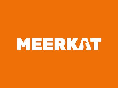 Meerkat logo concept fun children bold typographic logo wordmark friendly footwear kids negative space logo meerkat animal logotype typography brand identity branding logo design logo minimal