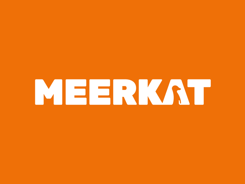 Meerkat logo concept fun children bold typographic logo wordmark friendly footwear kids negative space logo meerkat animal logotype typography brand identity branding logo design logo minimal