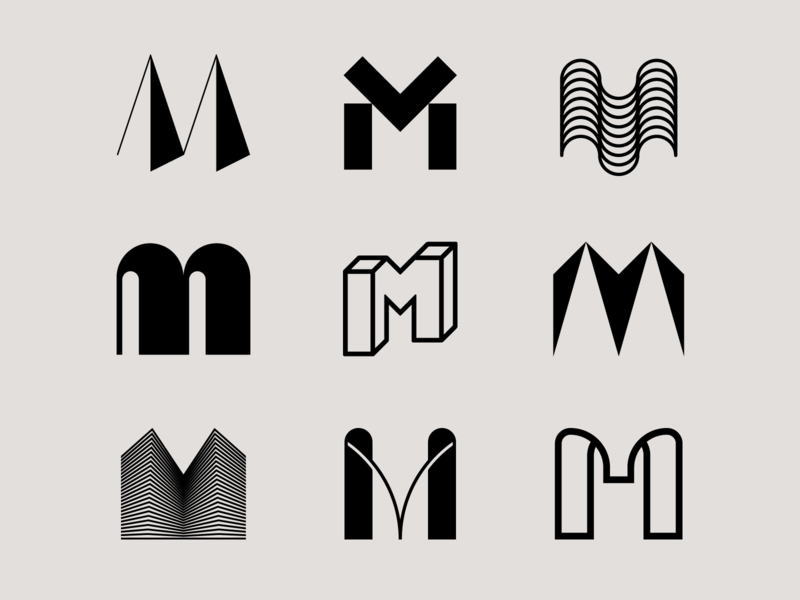 Letter M exploration impossible shape 3d logo construction architect tech logo letter m logo m logo letter m letter exploration lettermark monogram geometric simple typography brand identity branding logo design logo minimal