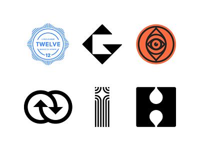Logo Lounge book 12 negative space logo drop letter logo award logolounge arrows i logo h logo g logo eye lettermark monogram geometric brand identity branding minimal logo design logo