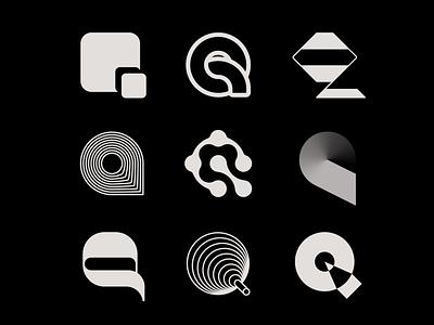 Letter Q exploration q logo letter q negative space 3d organic pencil gradient logo tech logo logomark letter exploration lettermark monogram geometric typography brand identity branding minimal logo design logo
