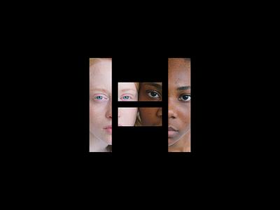 Halve Clothing logo application equal rights equal letter h h logo apparel logo social justice diversity clothing apparel bold lettermark monogram simple geometric brand identity branding logo design minimal logo