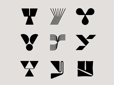 Letter Y exploration letter logo font letter y y logo lines high contrast organic tech logo logomark letter exploration lettermark monogram simple geometric typography brand identity branding minimal logo design logo