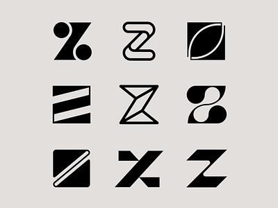 Letter Z exploration letters font letter z logo letter logo logo mark elegant tech logo organic letter z z logo letter exploration lettermark monogram geometric typography brand identity branding minimal logo design logo