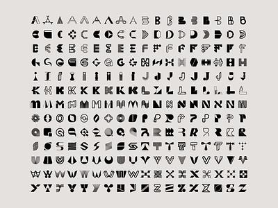 Lettermark explorations full tech logo alphabet logo custom type logofolio abstract organic letter logo letter exploration lettermark monogram geometric typography brand identity branding minimal logo design logo