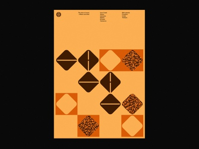 CACAO poster graphic design type cacao cocoa swiss modernism logotype layout geometric retro grid custom type poster typography