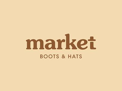 Boots and hats market 70s market hats boots vintage type vintage logo vintage badge wordmark logotype simple brand identity typography branding logo design logo