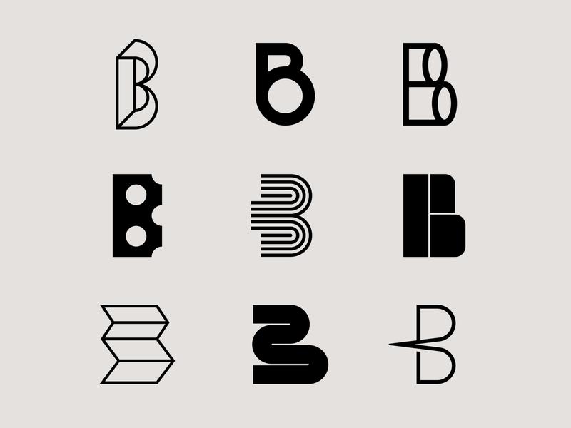 Letter B exploration geometric lettermark logo b logo logo exploration logomark brand identity lettering letter b lettermarkexploration lettermark design letter exploration monogram typography branding logo design minimal logo