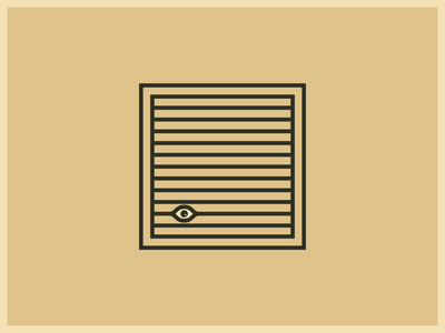 Rear Window by Alfred Hitchcock window illustration dribbleweeklywarmup minimalism lines vintage film movie hitchcock icon design eye geometric simple dribbble weekly warm-up logo design minimal logo
