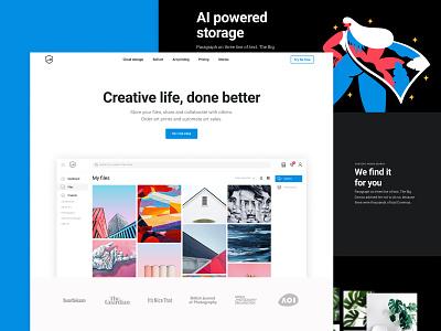 Creative Hub marketing site web app marketing site branding webdesign web online storage