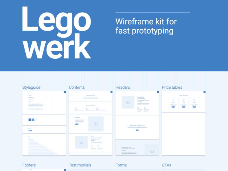 Legowerk - Webflow wireframe kit (WIP) by Dario Stefanutto