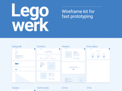 Legowerk - Webflow wireframe kit (WIP) library drag and drop web responsive template wireframes rapid prototyping webflow prototyping