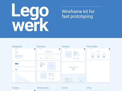 Legowerk - Webflow wireframe kit (WIP) library drag and drop web responsive template wireframes rapid prototyping webflow prototyping