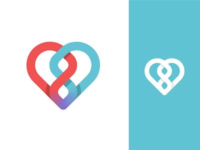 Discarded logo heart logo testing dna
