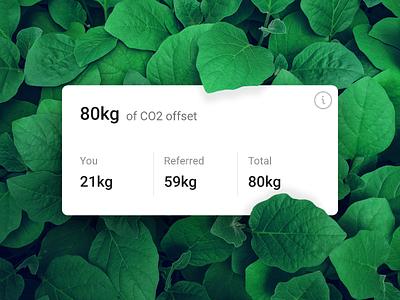 Carbon offset card offset plant based co2 green leaf figma card plant