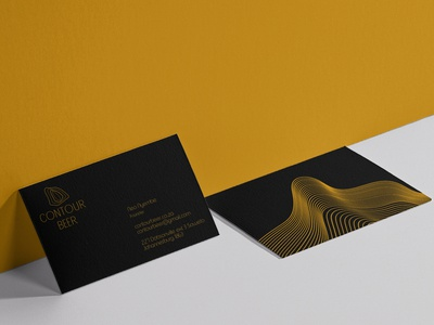 Contour Beer Business Cards