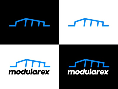 Modularex logo design icon logotype vector brand identity typography logo logo design simple minimal design minimalism
