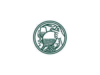 Winery stamp vector stamp illustration brand identity minimalist logo design design logo simple minimal minimalism