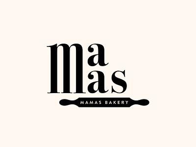 Mamas Bakery minimal minimalism design bakery simple logo logo design typography brand identity branding minimalist logotype