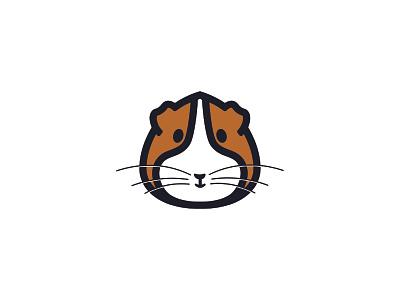 Guinea Pig Logo geometric branding brand identity pet design animal guinea pig logo design minimalism