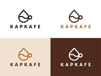 KAPKAFE – coffeehouse logotype coffeeshop minimalism branding brand identity minimalist typography logo design simple design minimal coffee bean coffee logo