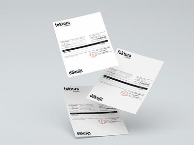 Invoice Design vector brand business invoice design invoice simple typography brand identity corporate branding corporate minimal design minimalism