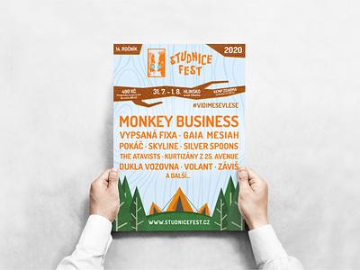 Studnice Fest visual style festival poster illustration minimalist brand vector brand identity branding typography design minimalism